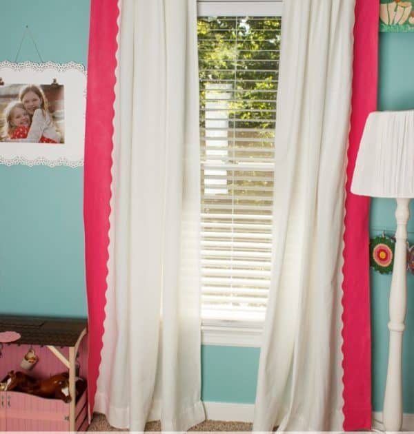 DIY Painted IKEA Curtains