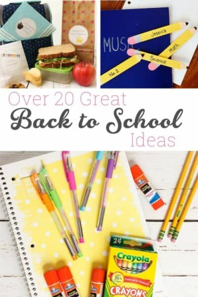 Great Back to School ideas. There are over 20 ideas to get the kids and myself ready. Ideas are for DIY, Organization, Lunches and crafts. Fun!