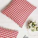 Gingham and Pom Pom Decorative Pillows