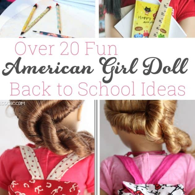 Over 20 Fun Amerian Girl Doll Back to School Crafts