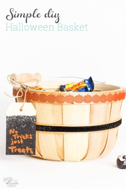 Such a cute DIY basket for our Halloween treats! It would make a cute addition to our Halloween decorations and looks like an easy craft.