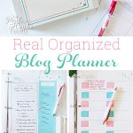 Real Organized Blog Editorial Calendar and Printable Planner