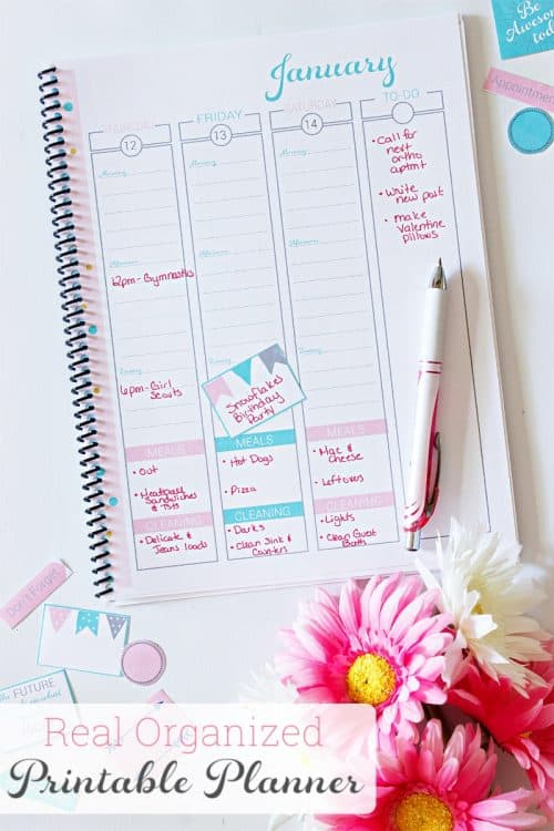 2017 Real Organized Printable Calendar / Planner