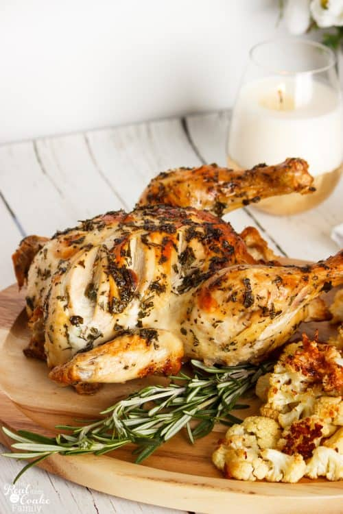 I love easy baked chicken recipes. They are perfect for a nice family dinner. This is an amazingly delicious herb baked chicken recipe. Yummy!