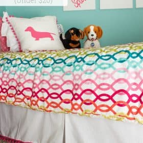 How to Make a Pom Pom Trimmed Box Pleat Bed Skirt