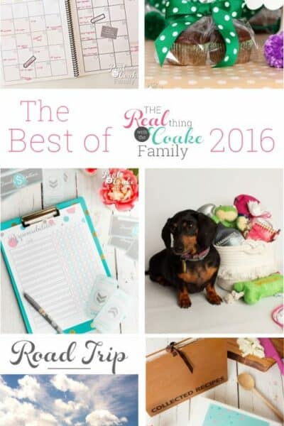 Love all these great posts! All the best post from the blog The Real Thing with the Coake Family in 2016. It includes recipes, organization ideas, printables, crafts, gift ideas and some fashion. Love!