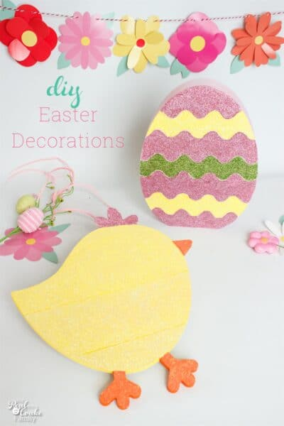 These are such easy and cute DIY Easter decorations. Love that they came from the dollar store at Target and are fun crafts!