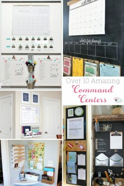 These are such great DIY command center ideas! There are ideas for keeping the home and family organized in a variety of spaces and styles.