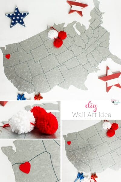 Love this cute and simple wall art idea. Take my existing wall decor and DIY this cheap and easy idea to make the wall decor a little more unique.