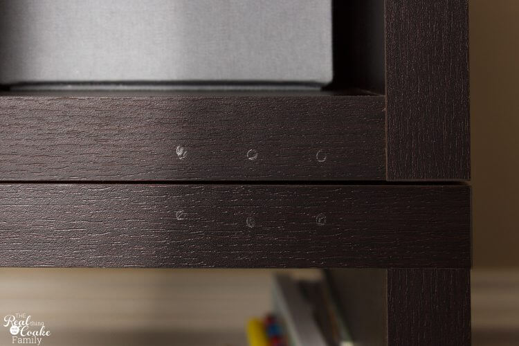 pencil marks for pre-drilling