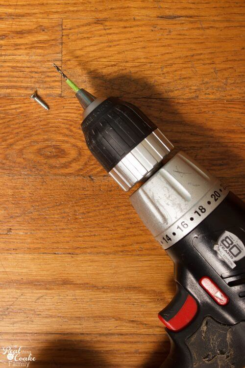 drill showing how to mark depth to drill with piece of painter's tape