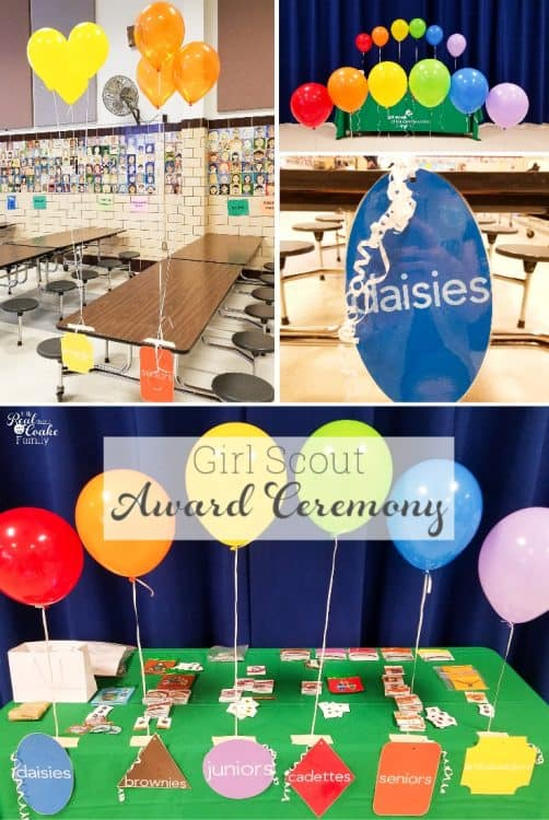 Great ideas for Girl Scout leaders for bridging ceremony and award ceremony decorations. Has ideas for all levels of Girl Scouts including Daisy, Brownies, Juniors, Cadette, Seniors and Ambassadors.