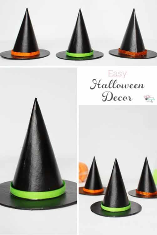 Love this easy Halloween craft! They are a cheap DIY that will look really cute on my mantle as part of my Halloween decorations.