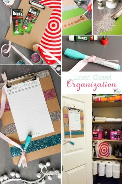 Great ideas for my small linen closet organization. Love the free organizational printables and cute craft to use for being more organized.
