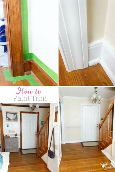 Such a great guide on how to paint trim! It goes step by step on how to complete this simple DIY and make pretty changes in my home decor.
