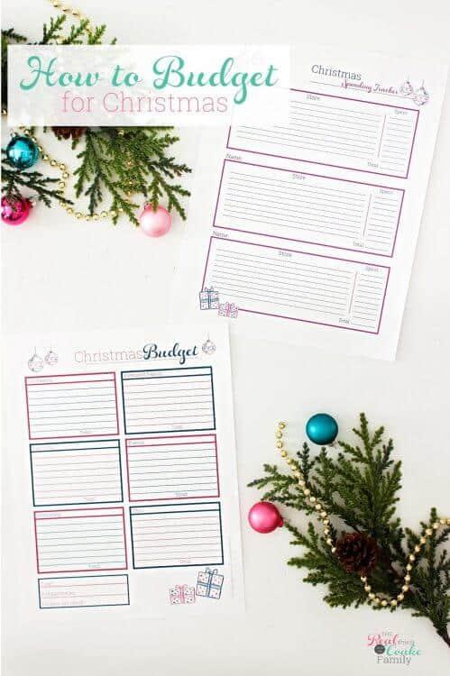 printable to keep Christmas budget organized