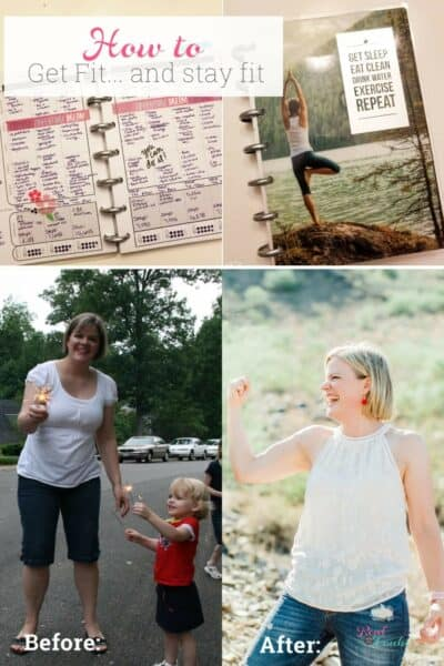 Guide for hardworking moms on how to get fit and stay fit. From 10 years of experience one mom shares motivation, goals, tips and ideas on how to get fit.