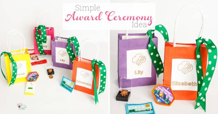 st and easy to make bags for an award ceremony. They are a simple and inexpensive way to add some cuteness to your badge presentation.