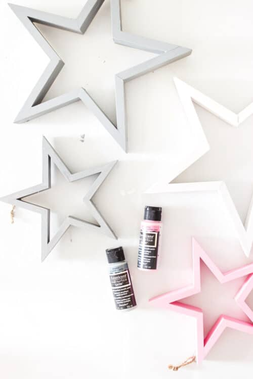 paint and 4 painted stars