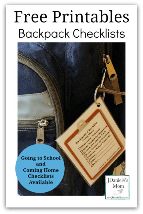 laminated backpack checklist organization hacks