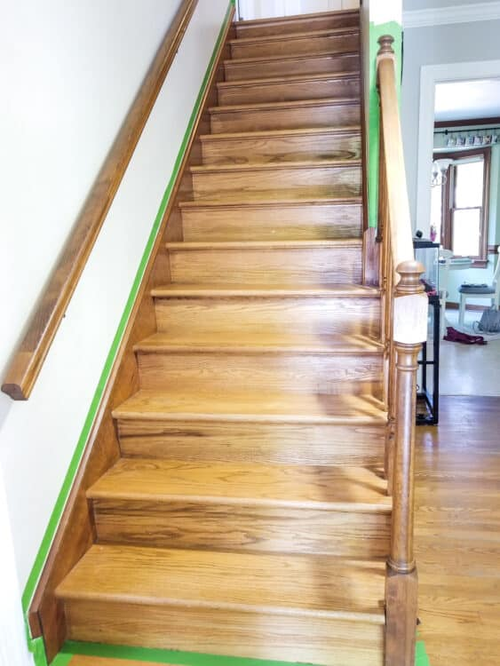 Stairs with carpet removed
