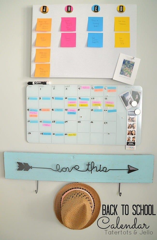 calendar idea using post it notes