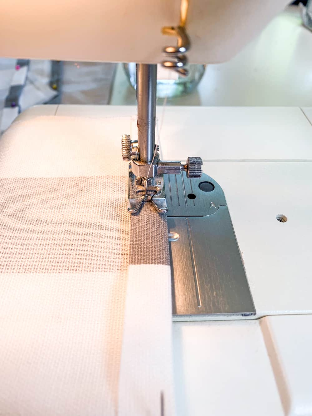 "sewing machine sewing 1/2"" seam"