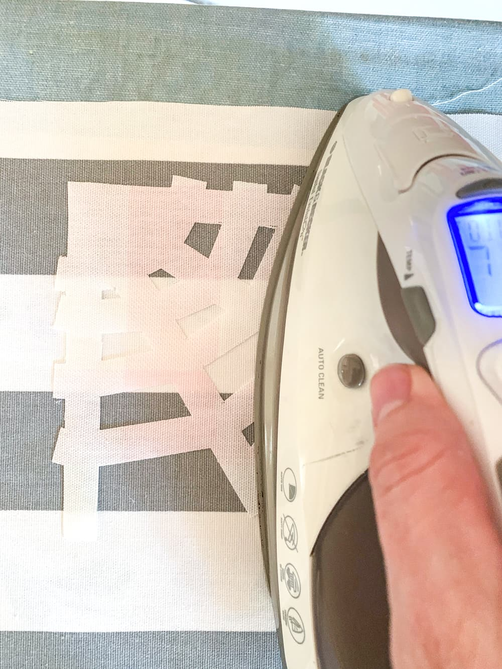 ironing on applique