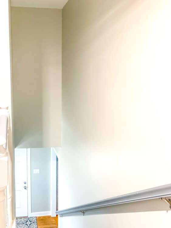 finished painted stairwell