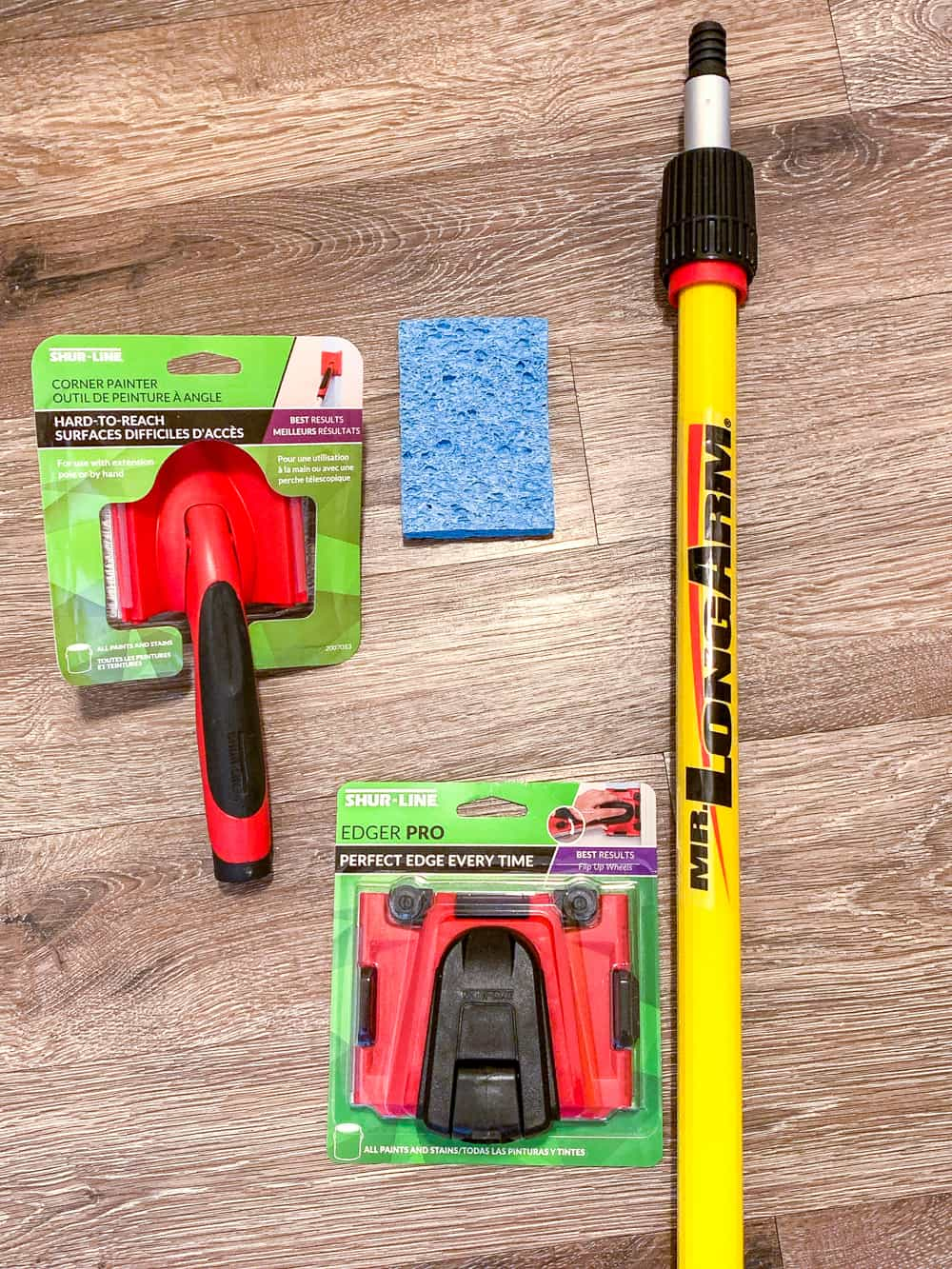 tools to use for painting a stairwell without a ladder or scaffolding