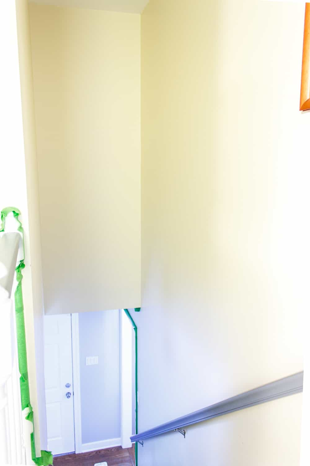 before painting a stairwell