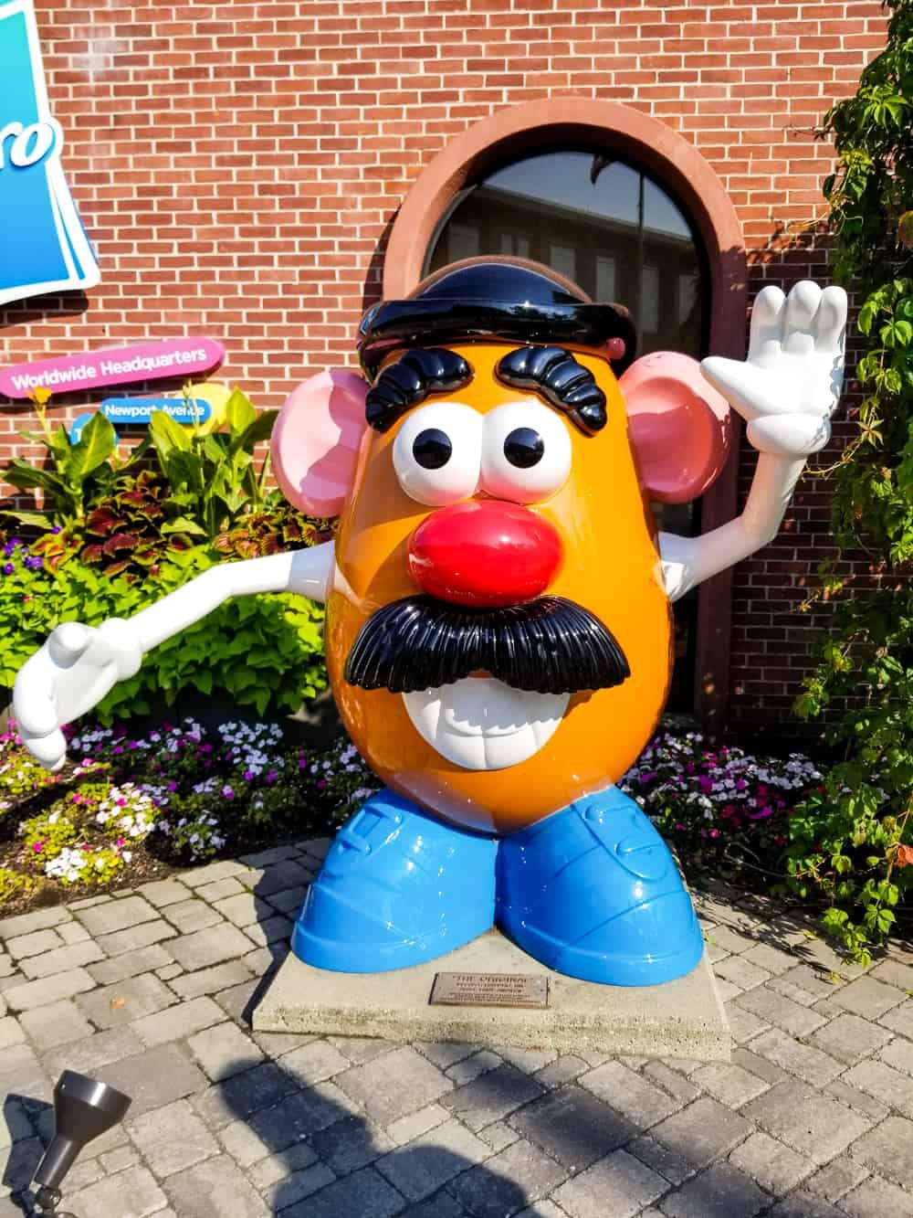 Mr. Potato Head statue at Hasbro in Rhode Island