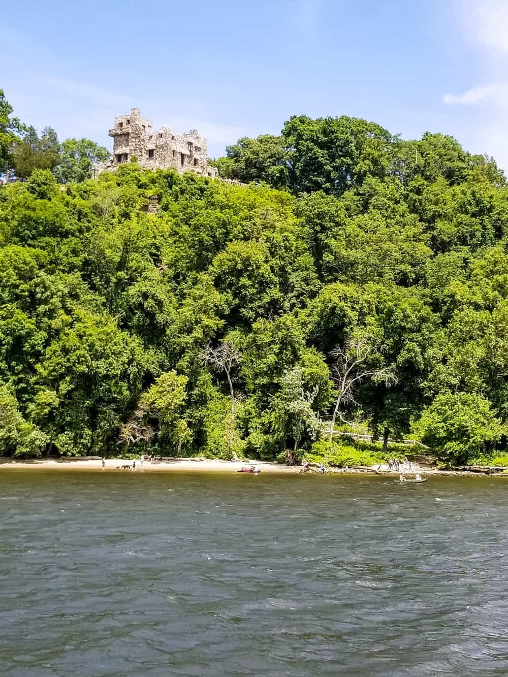 Gillette castle from Connecticut river