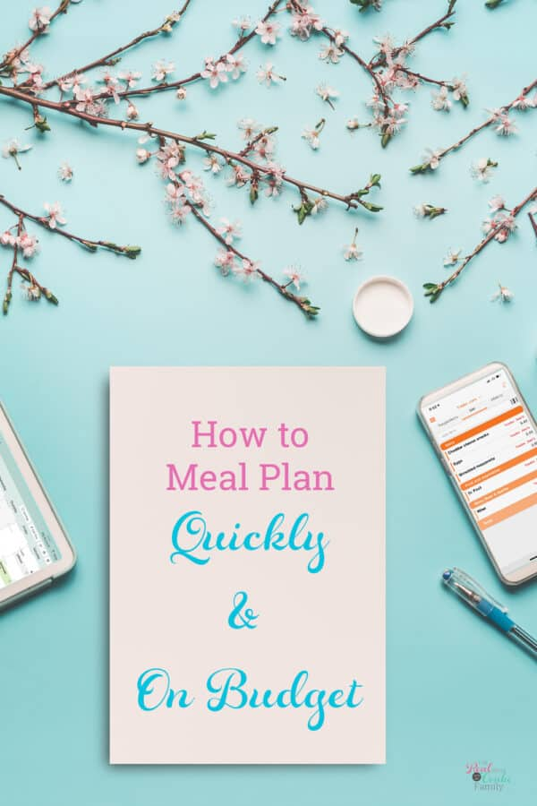Learn meal planning on a budget graphic