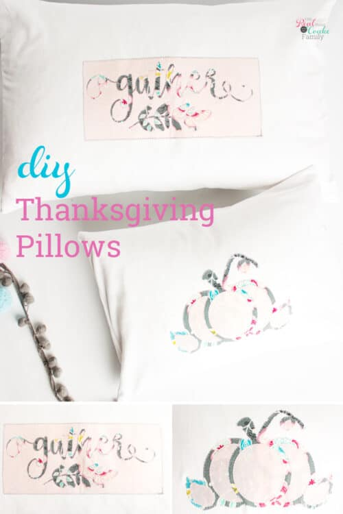 2 thanksgiving throw pillows