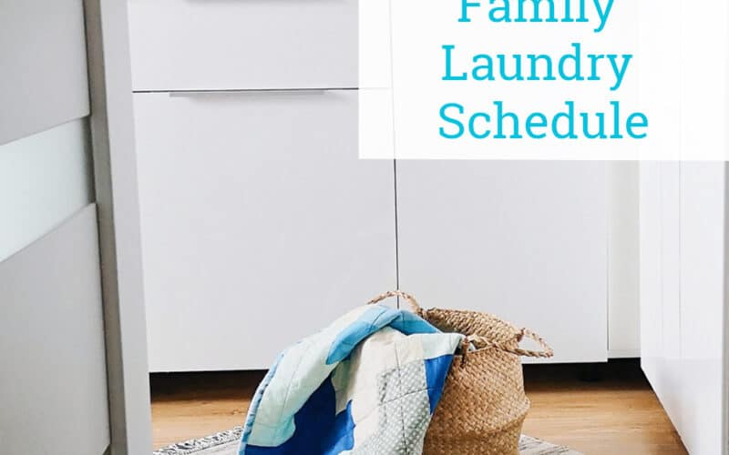 Laundry Schedule – How to Easily Get the Family Involved